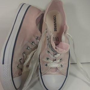 Converse All Stars Pink Felt Ribbon Laces W 8😎